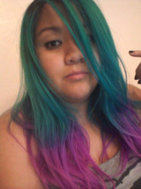 Twisted Teal And Fuchsia Fatale By Raw Demi Permanent Hair Dye This Was After