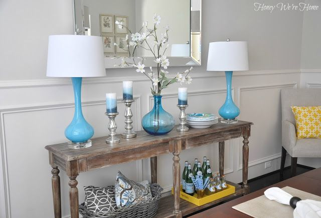 Dining Room Decor Updates  World Market Everett Foyer Table love the way she d Dining Room Decor Updates  World Market Everett Foyer Table love the way she decirated the...