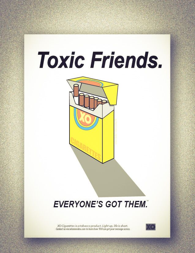 Selam Cigarettes Friends Posters Satire Toxic Friends