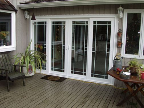 patio door perimeter grids | Plygem Double Sliding French Rail Patio Door  with Internal Grids - Patio Door Perimeter Grids Plygem Double Sliding French Rail