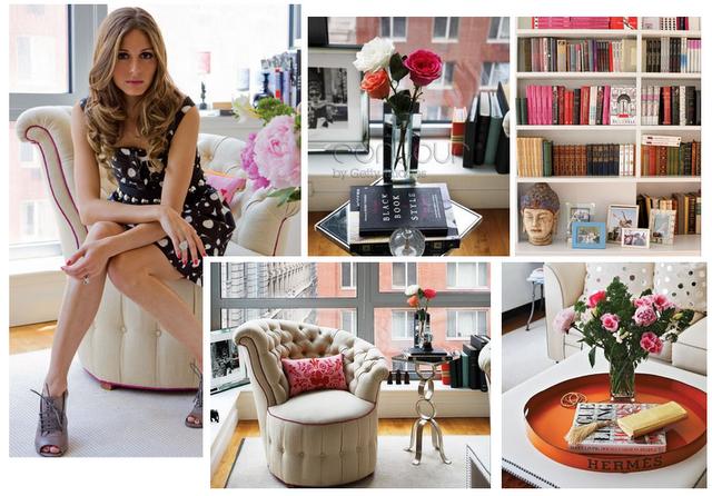 Downtown Oculus Interior Loves Olivia Palermo S Tribeca Apartment ベッドルームのアイデア 部屋 リビング