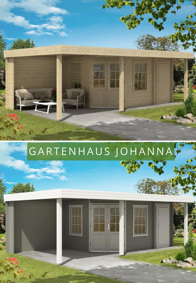Gartenhaus Johanna 40 Plus Gartenhaus Gartenhaus Mit Terrasse Flachdach Gartenhaus