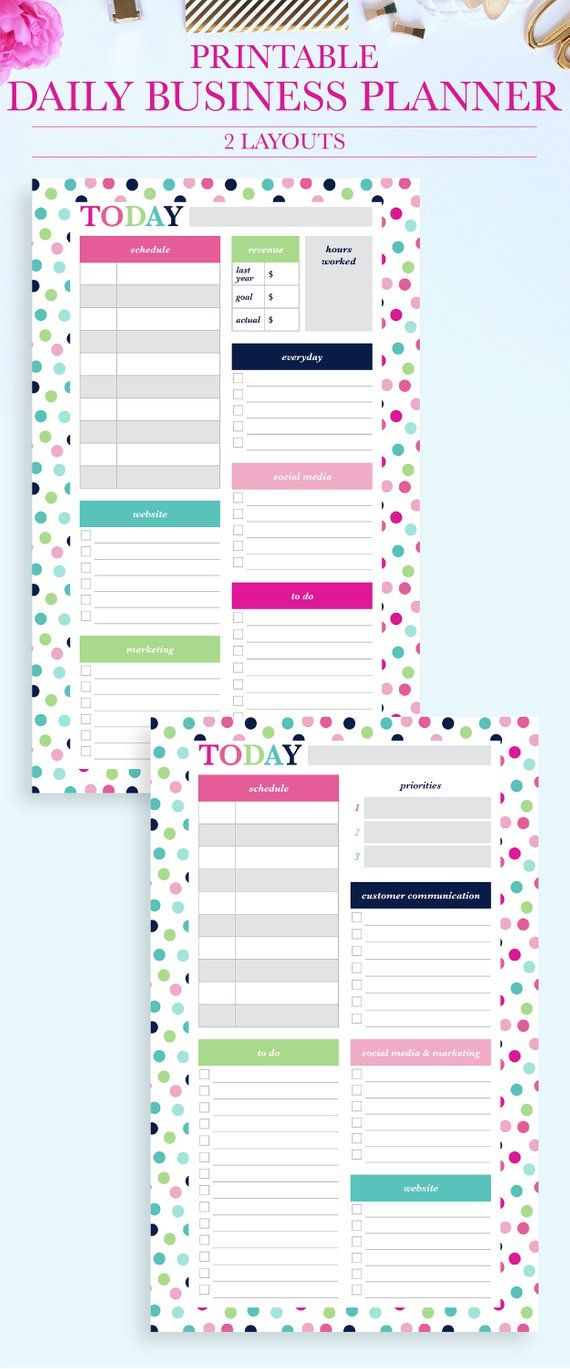 daily business planner small business planner daily schedule