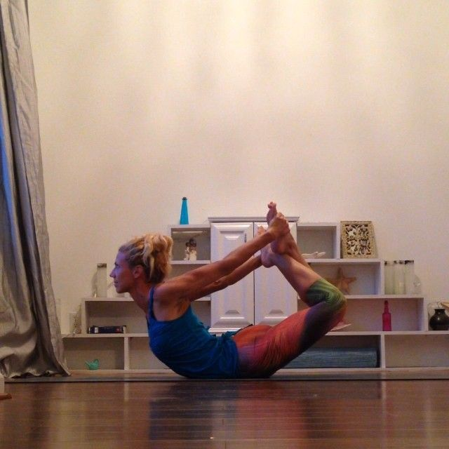 "@Kerri V's photo: ""Day 29 Padangustha Dhanurasana Options   I can only the reverse grip on one side but I must say that I don't work on this pose very much. The first option in this video is to grab the outside of your ankles. Focus on keeping the knees together before you lift. Second is a cross grip which will help keep knees together and give you a nice stretch through the shoulders. Post any version you want. Enjoy."