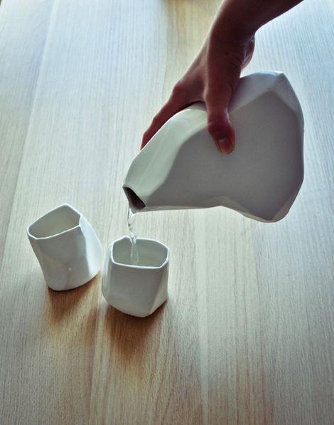Tea / Rock ceramic set by Arkadiusz Szwed