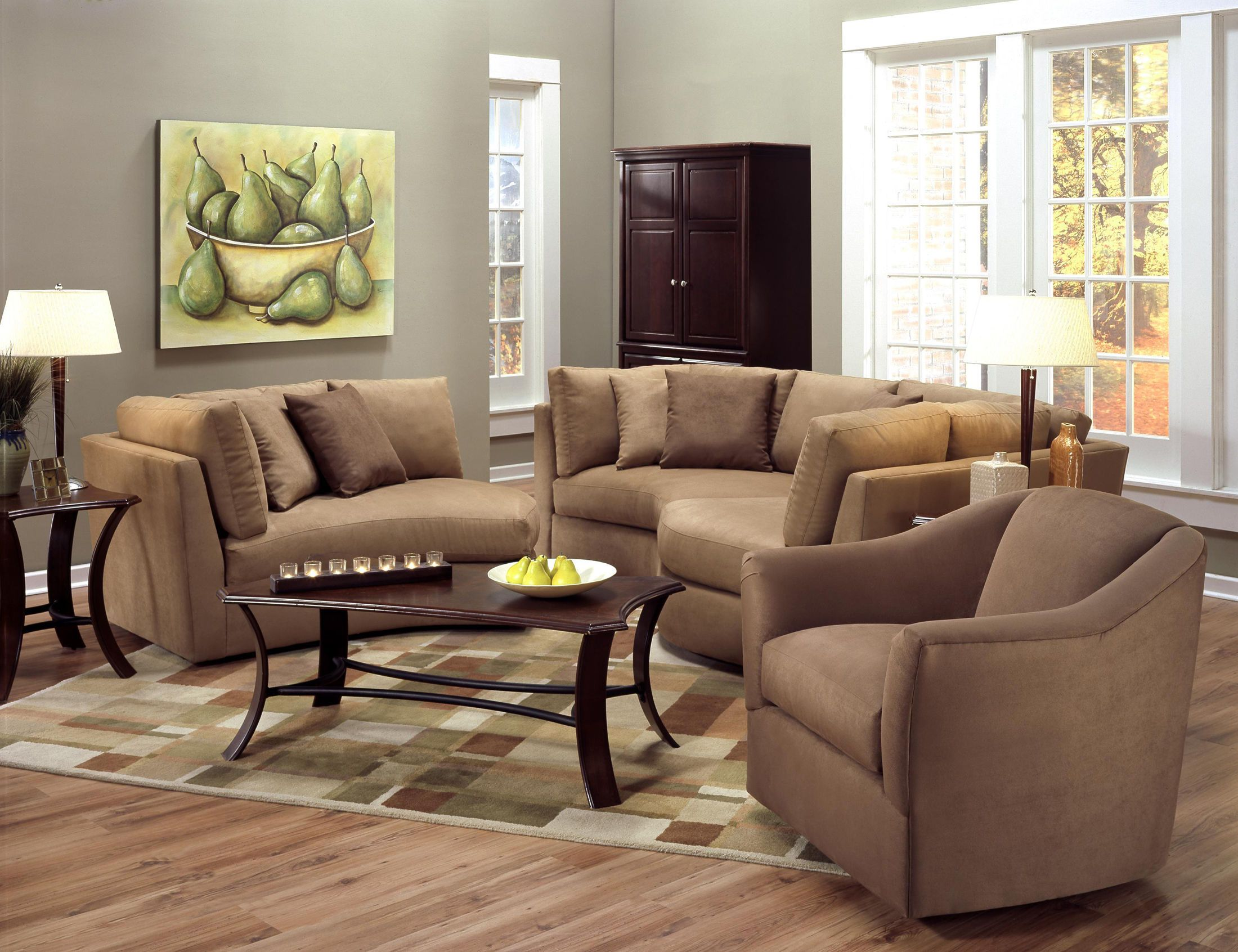 This 3 piece sectional fits together like a puzzle - a very comfy ...