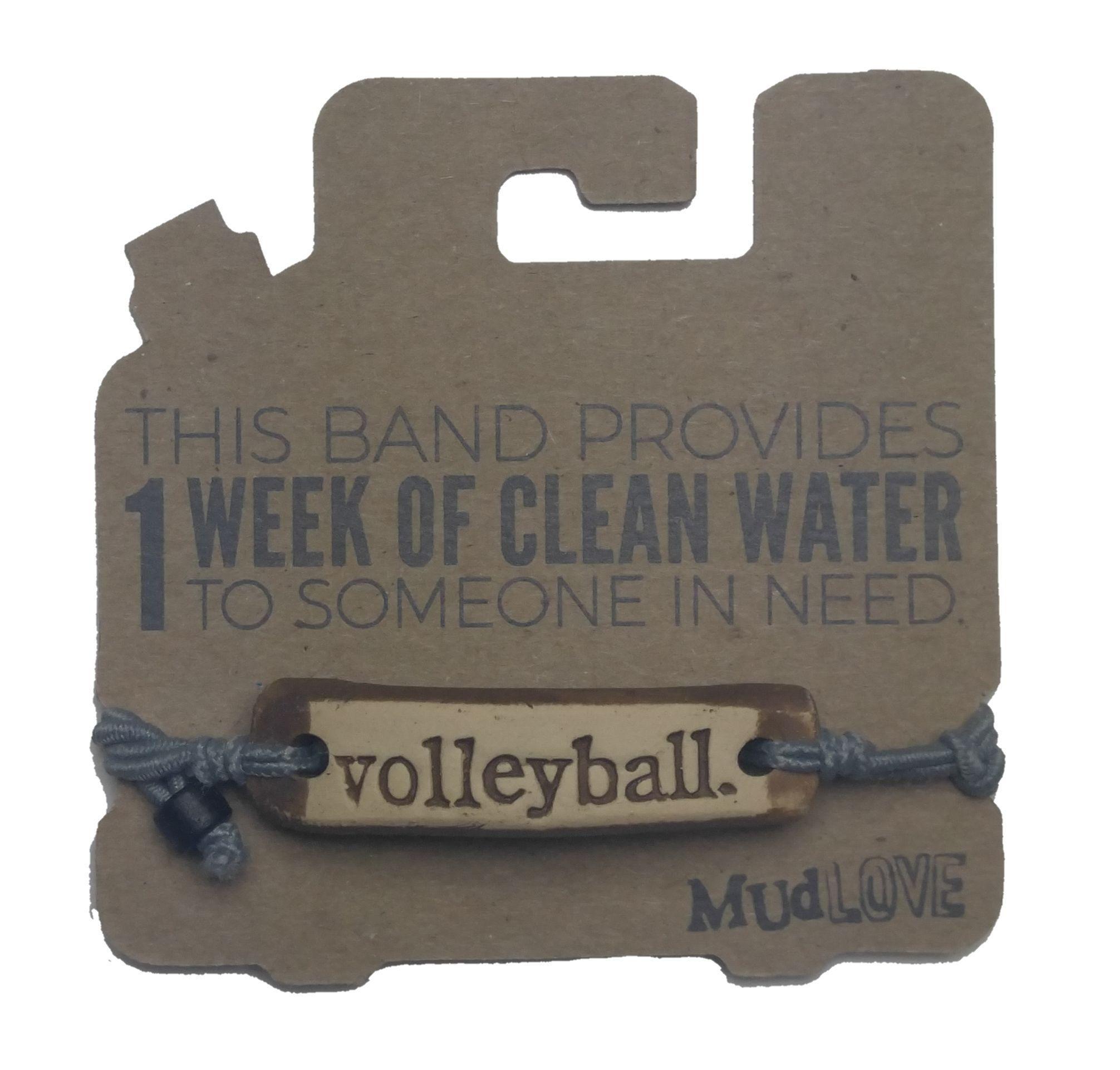 Mud Love Volleyball Bracelet Lucky Dog Volleyball Volleyball Jewelry Volleyball Volleyball Gifts
