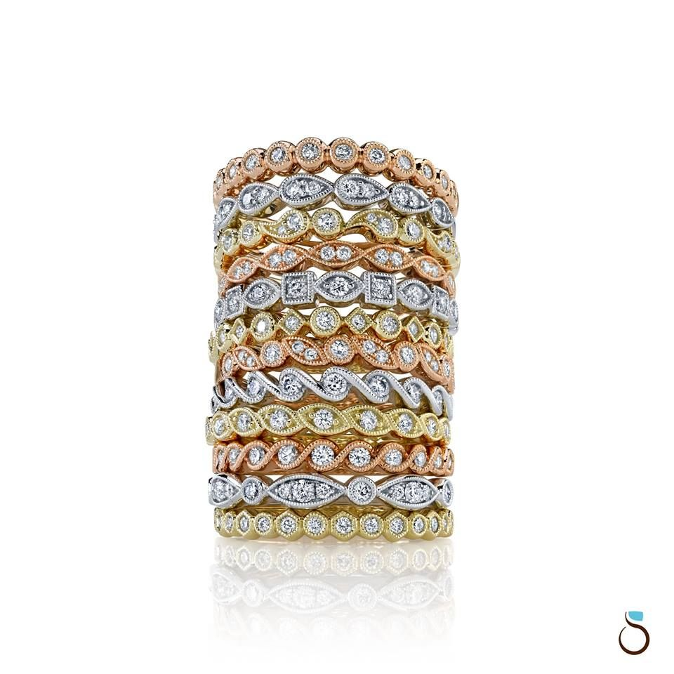 Sylvie Stackable Rings Great For Gifts Or Wedding Bands Stackable Wedding Bands Jewelry Catalog Girls Jewelry Box