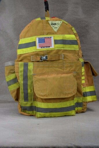 Backpack made from recycled firefighter bunker gear! www.FFTOB.com ... a45e336c26