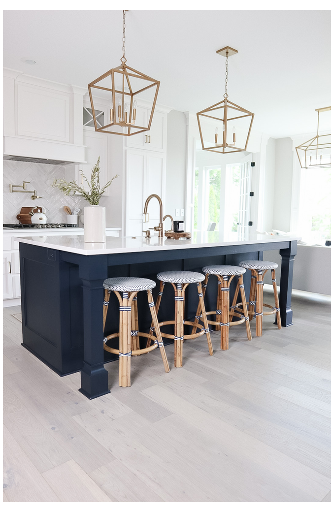 The Best Sherwin Williams Navy To Paint Your Kitchen Island Navy Kitchen Isla In 2021 Open Plan Kitchen Living Room Painted Kitchen Island Kitchen Island Cabinets