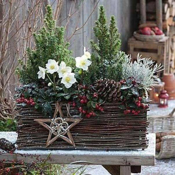 Decoración navideña estilo rústico Navidad, Xmas and Christmas decor