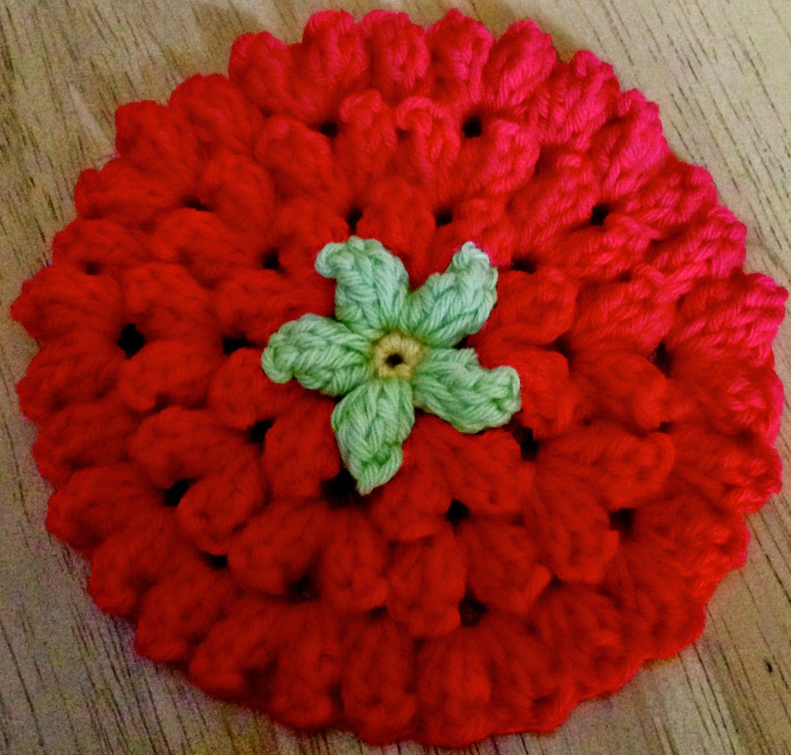 Free Popcorn Flower Coaster Pattern from Da\'s Crochet Connection ...