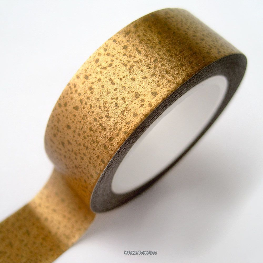 Love My Tapes: Gold Metallic Paper Washi Tape, 15mm x 10 yards