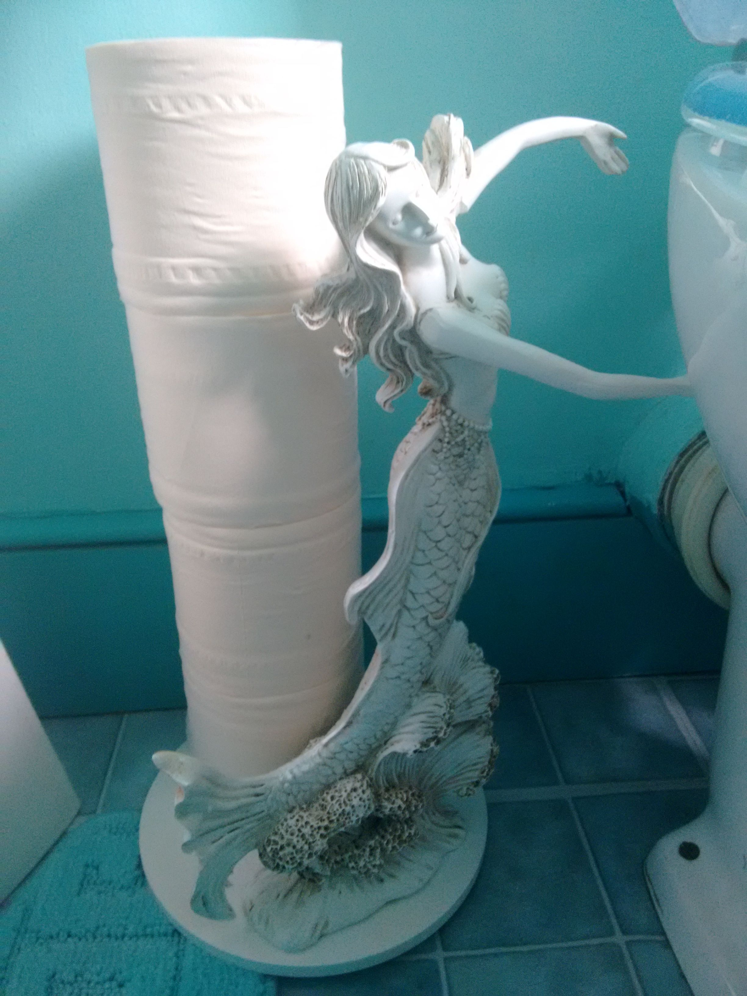 NEW Mermaid Toilet Paper Holder Nautical Home Décor FREE SHIPPING