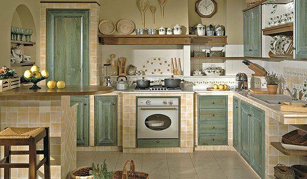 Cucina in muratura cucina pinterest kitchens cucina and shabby - Cucina in muratura country ...