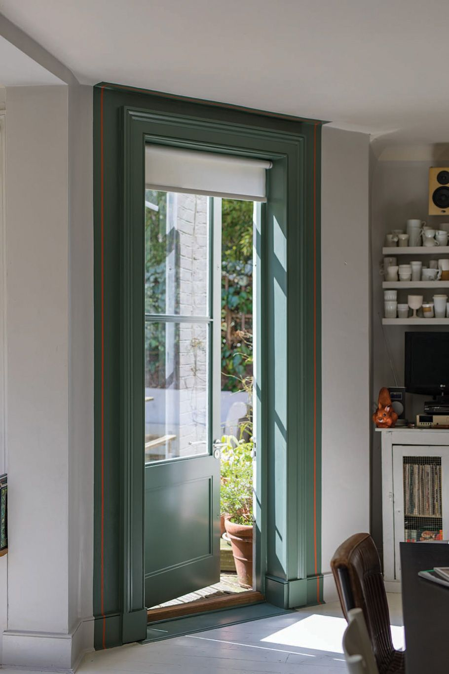 This Door Has Been Painted In The Stylish Green Smoke 47 Paint