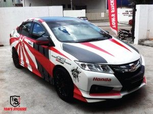 Honda Custom Body Stickers Design Car Pinterest Body - Custom car body stickers