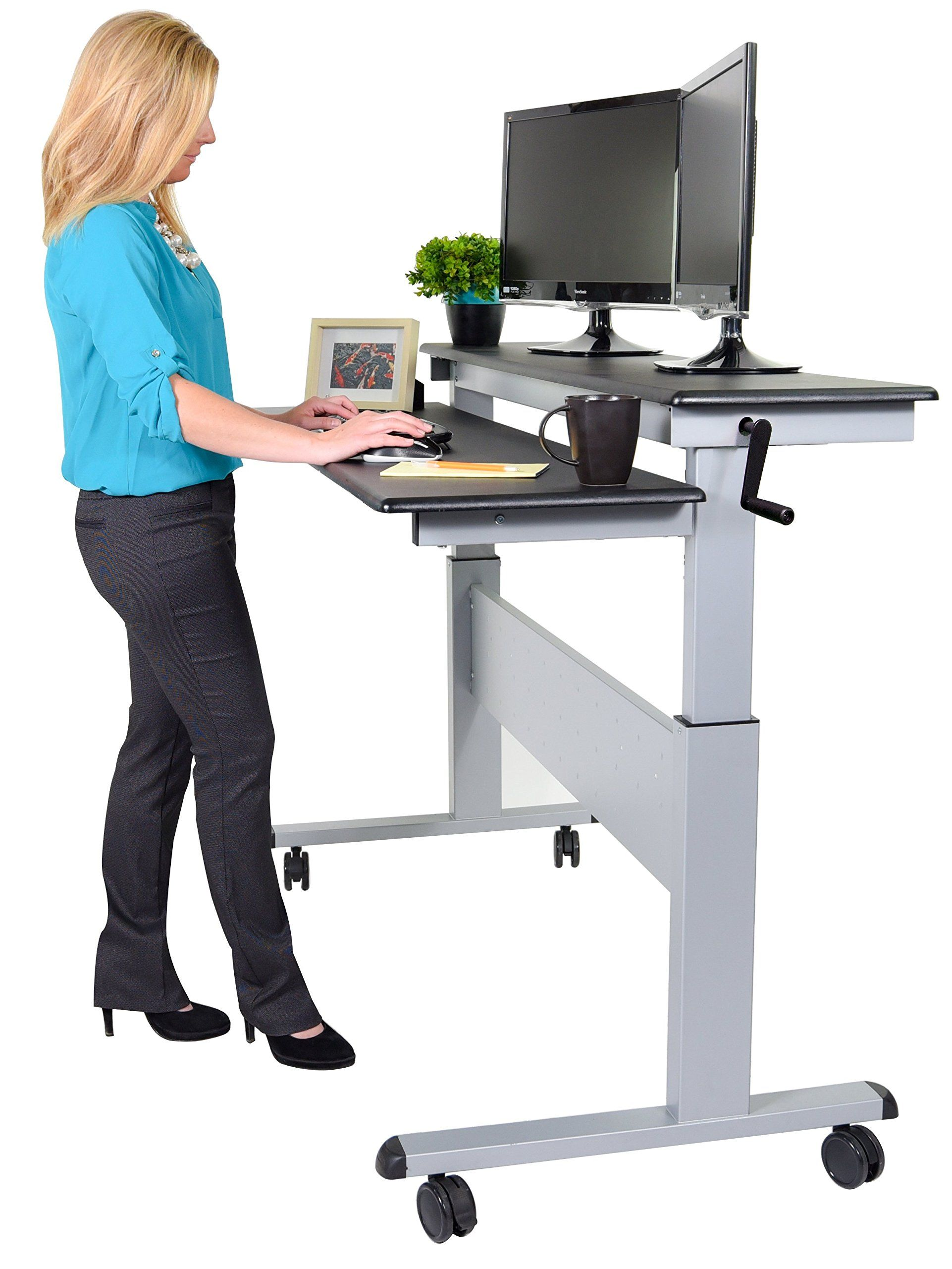 square office corners white height move product adjustable icon beech crank desk