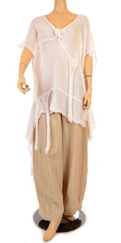 KLEEN Linen Bias-Cut SWING SLIP DRESS Flared Tunic 1X 2X 3X WHITE ...