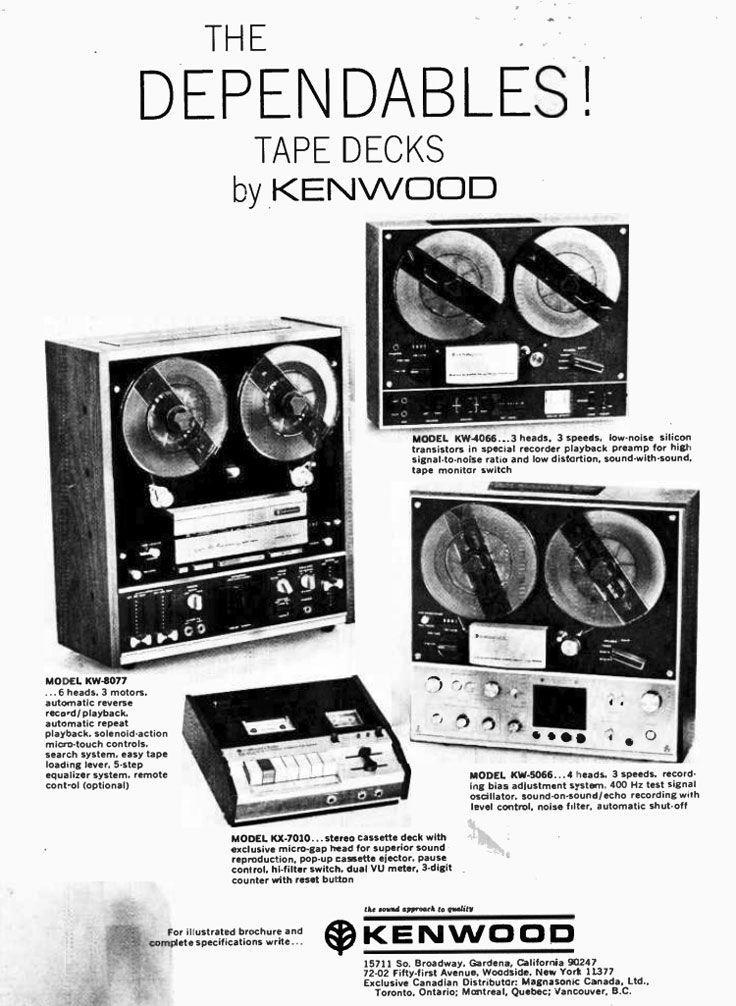 1970 Ad For The Kenwood Reel To Reel Tape Recorders In Phantom