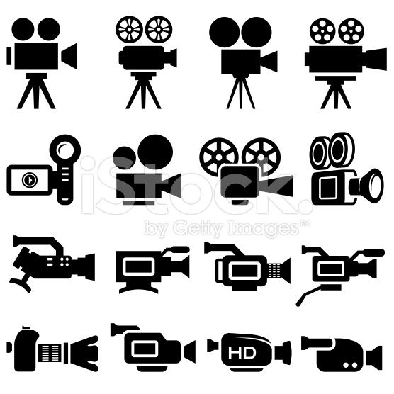 Film Camera Old And New Black White Icon Set Camera Tattoos Camera Film Tattoo Camera Illustration