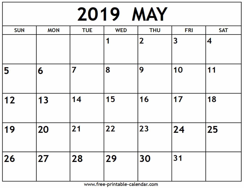 May 2019 Calendar Free Printable Calendar Com Free Printable