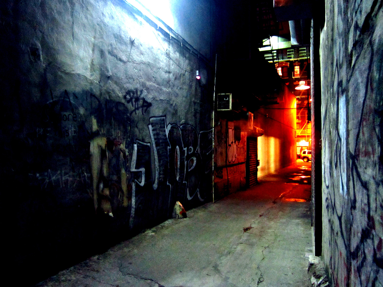 Night Alley   New york night, Cross city, Dark street