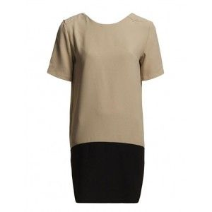 7a74446f1098 VILA ECUATA DRESS SOFT CARMEL   BLACK