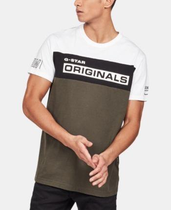 G Star Raw Men's Originals Colorblocked Logo Graphic T Shirt