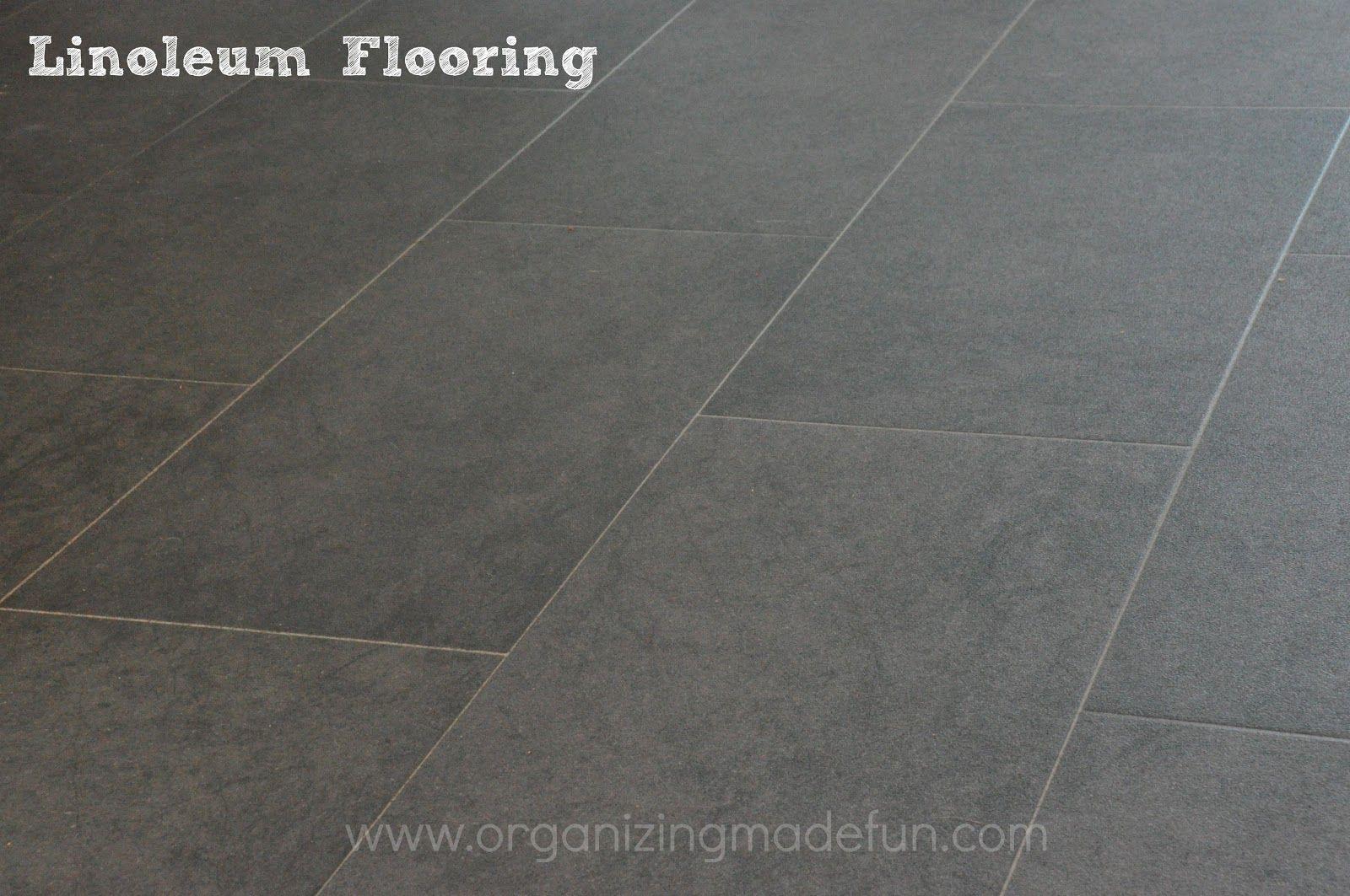 Linoleum Floor Up Close | OrganizingMadeFun.com