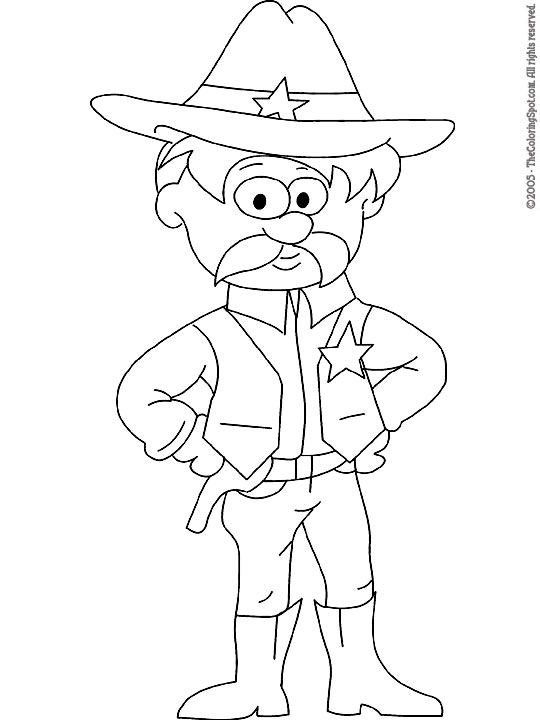 Rpso Kids Coloring Page Sheriff For Pin The Badge On The
