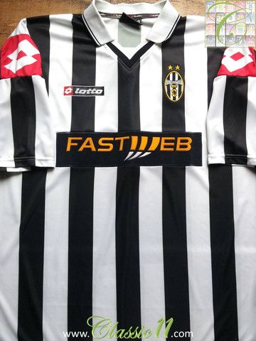 0e4c1fd2c Relive Juventus  2001 2002 season with this vintage Lotto home football  shirt.