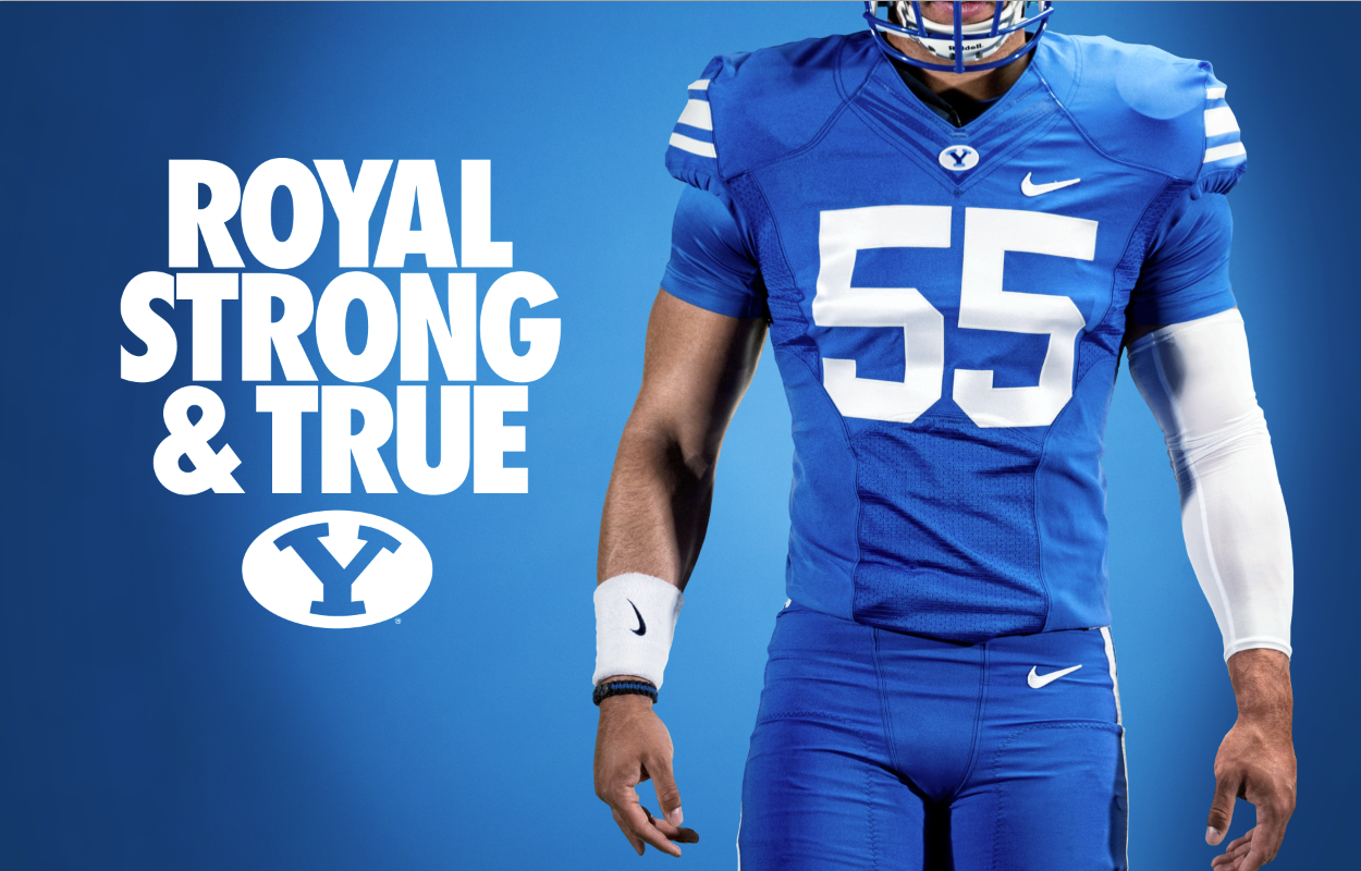 Royal Strong True Byu Football By Dave Broberg Byu Football Byu Sports Sports Design Inspiration