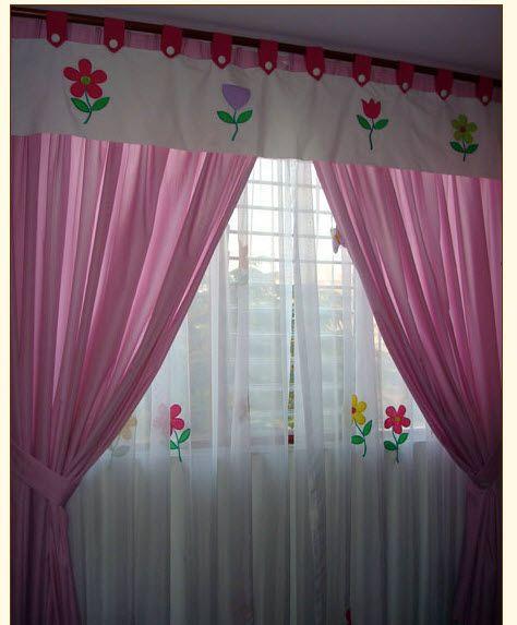 Cortina infantil 474 573 dormitorios de ni a pinterest cortinas cortas cortinas - Cortinas habitacion bebe nina ...