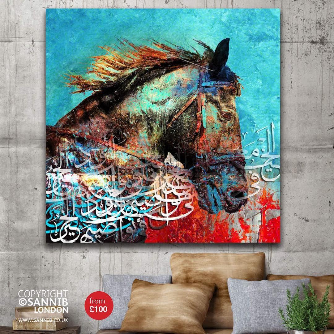 Sannib On Instagram مساء الخير والأصالة لوحة الخيل كانفاس مطبوع قياس ٥٠ في ٥٠سم بسعر ٥٠دينار Islamic Art Calligraphy Islamic Caligraphy Art Caligraphy Art