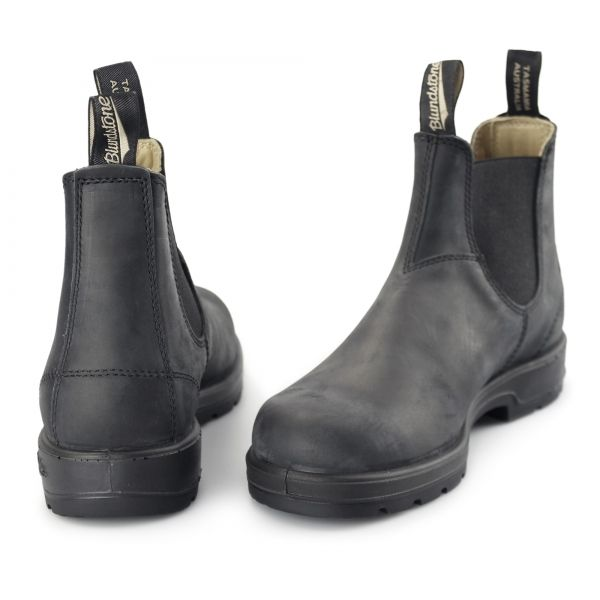 f63ddfc6b345 Blundstone 587 Mens Leather Chelsea Boots Rustic Black