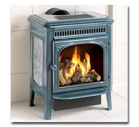 Gas fireplace and…