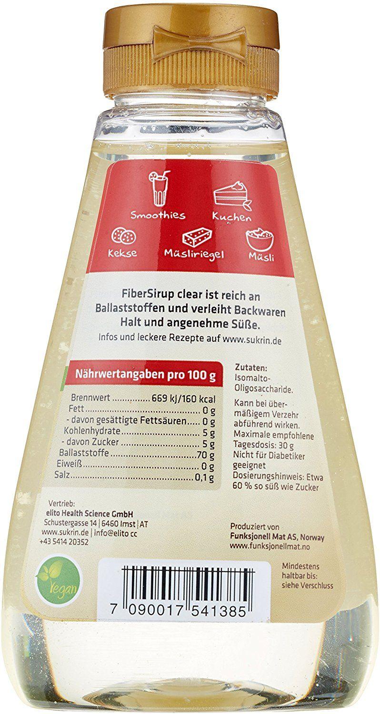 SUKRIN Fiber Sirup clear, 1er Pack (1 x 450 g): Amazon.de ...