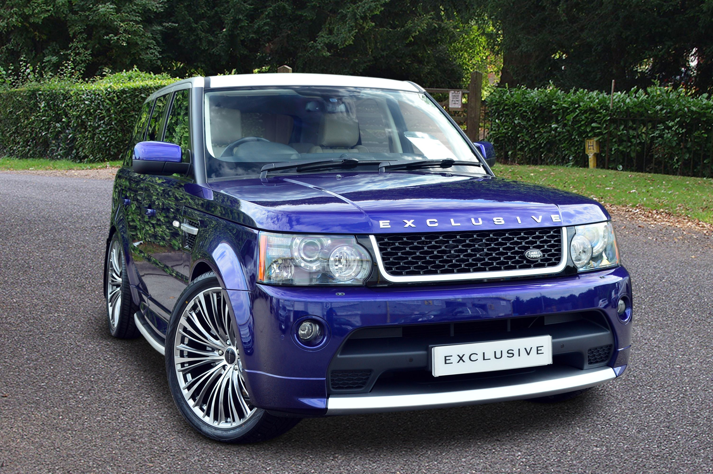 Range Rover Sport finished in a metallic Bali Blue paint