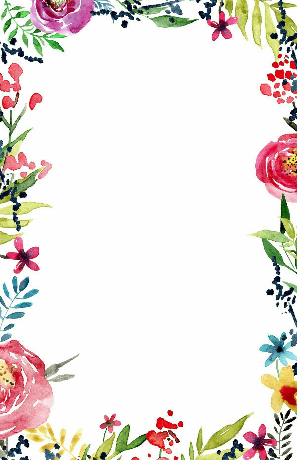 Pin Von Isabel Harrer Auf Leinwand Blumen Rander Blumenrand
