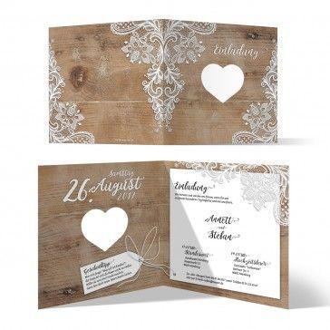 Schön #hochzeitseinladung #hochzeit #wedding #rustikal #spitze #einladung # Einladungskarte #holz