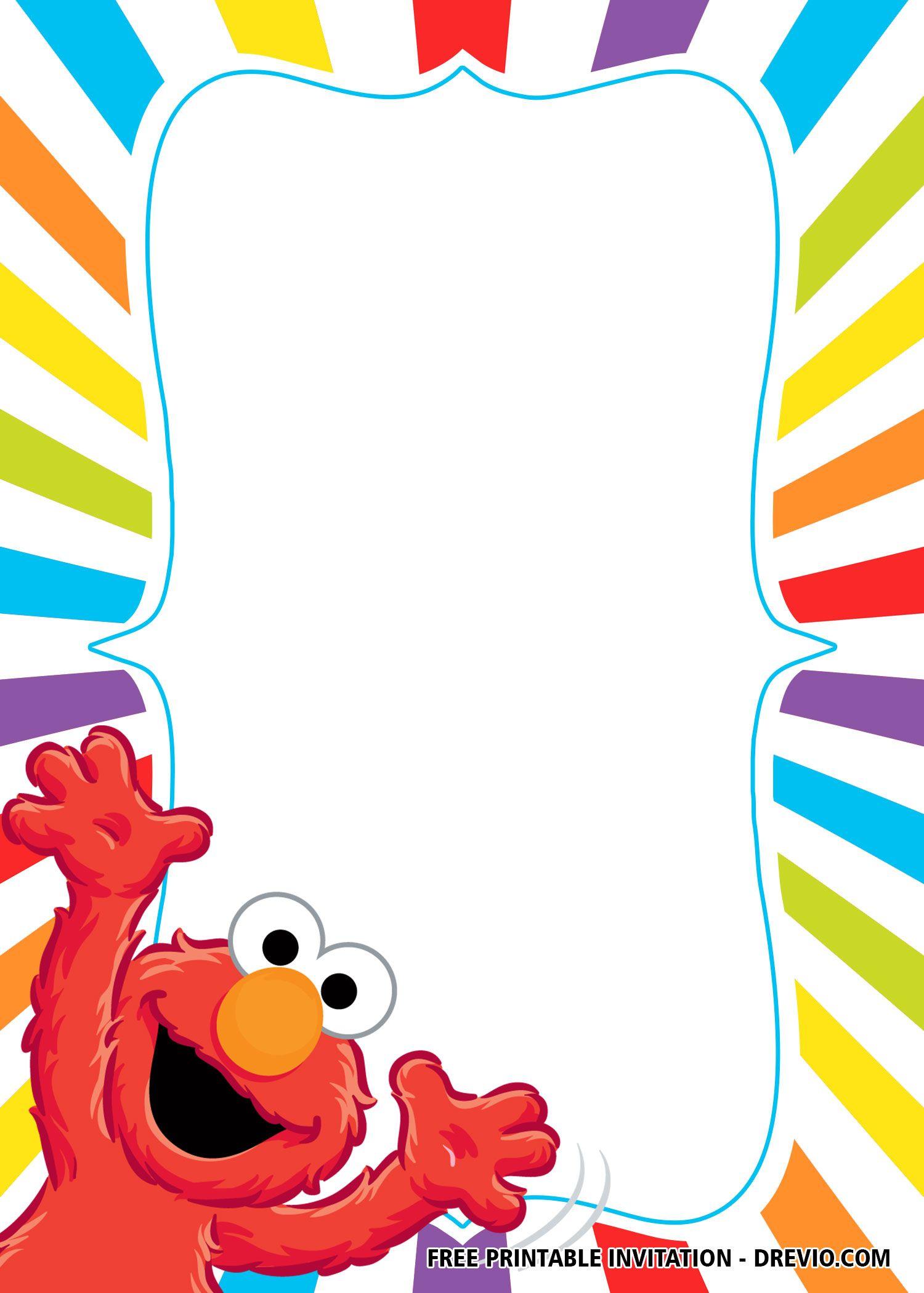 Free Elmo Birthday Invitation Templates Elmo Birthday Invitations Sesame Street Invitations Elmo Invitations