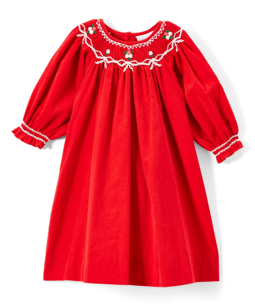 44f9ab964 Red Corduroy Bishop Dress - Infant Toddler & Girls   Products