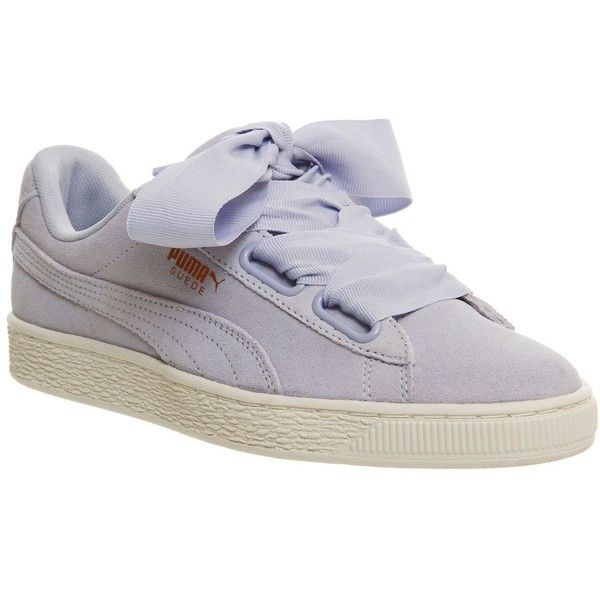Puma Suede Heart Trainers ($75) ❤ liked