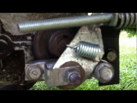 craftsman lawn tractor brake assembly  adjustment youtube craftsman riding lawn mower