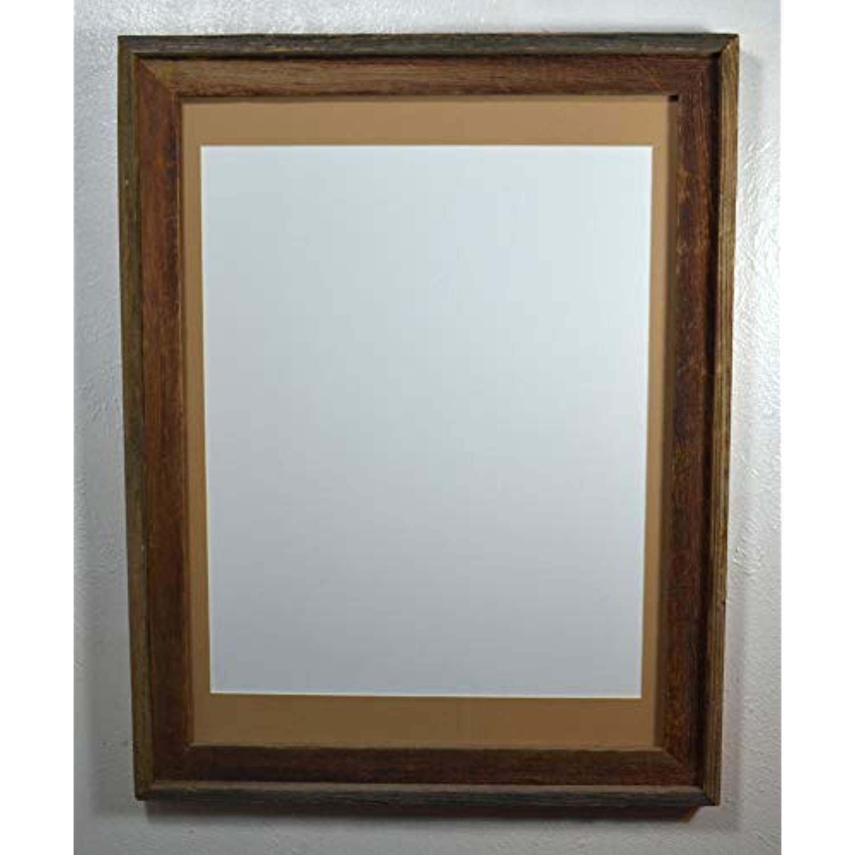 "16"" x 20"" Tan Mat in Rustic Reclaimed Wood Poster Frame"