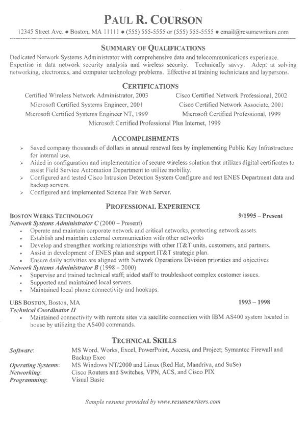 Information Technology Resume Template - http\/\/topresumeinfo - resume information technology