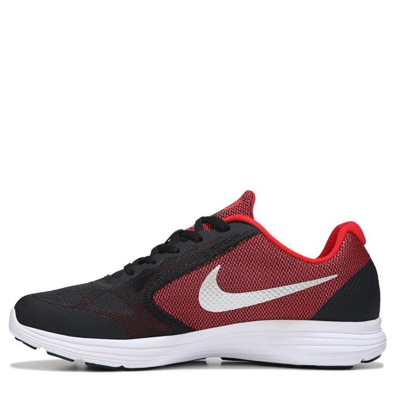 bccda5bf6461 Nike Kids  Revolution 3 Wide Sneaker Grade School Shoes (Red Black)