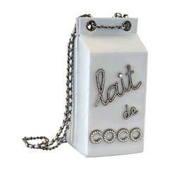 8106ff9fdac1 CHANEL bag LIMITED EDITION Milk Carton iridescent silver diamantes pearls  DIVINE