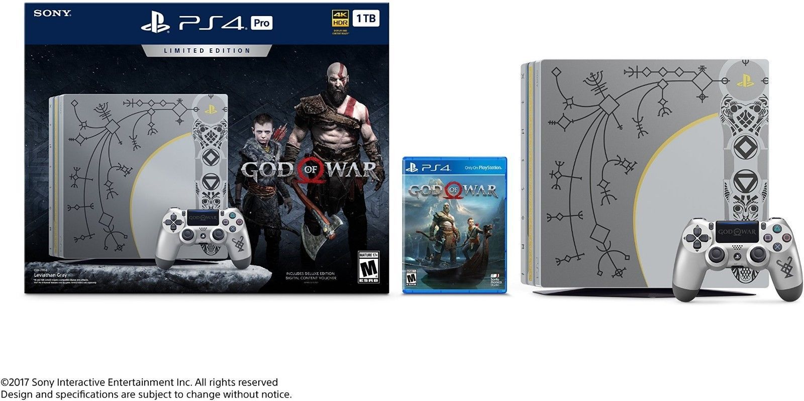 Playstation 4 Pro 1tb God Of War Bundle Release Day Delivery 3 Sony Region Days Only